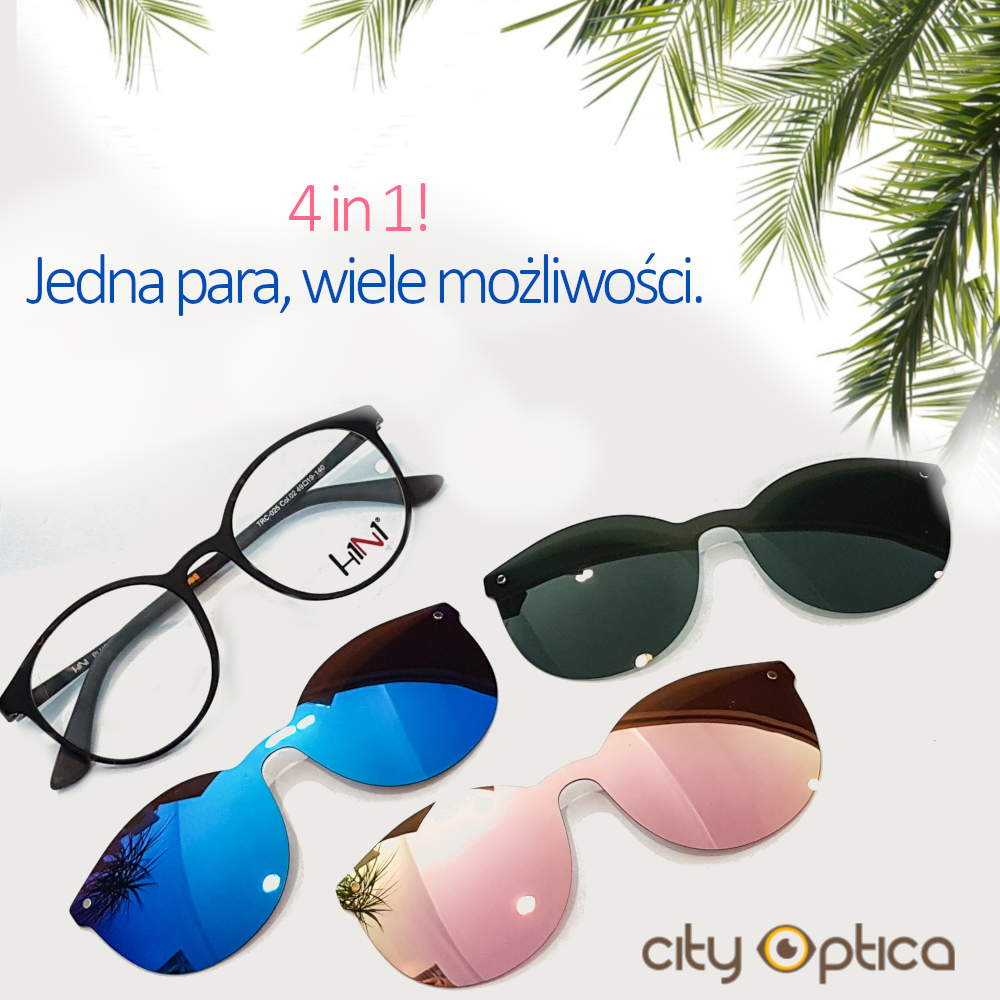 Rainbow H1N1 trc025 – okulary z 3 nakładkami   Okulary